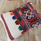 Small Cushion Cover from Romanian Cloth. 2 avail